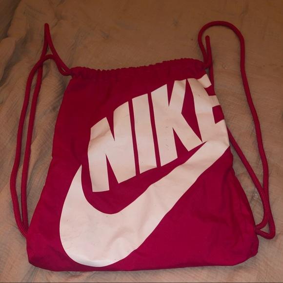 Nike Handbags - Magenta Nike Drawstring